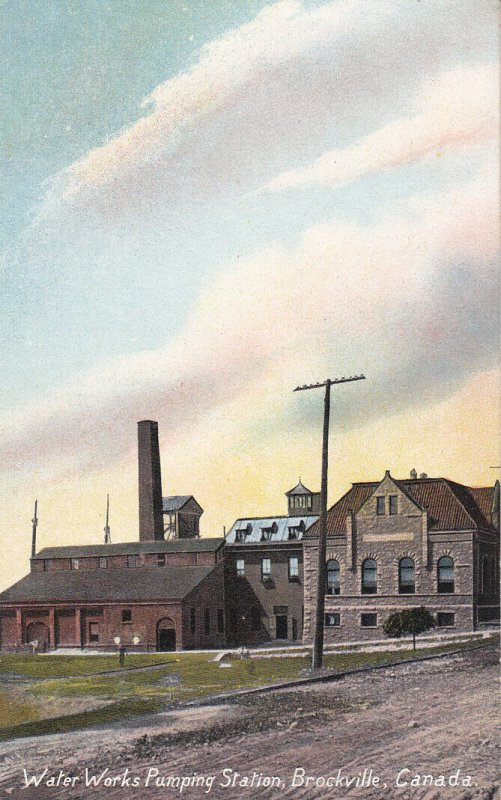 BROCKVILLE , Ontario , 1900-10s ; Water Works Pumping Station