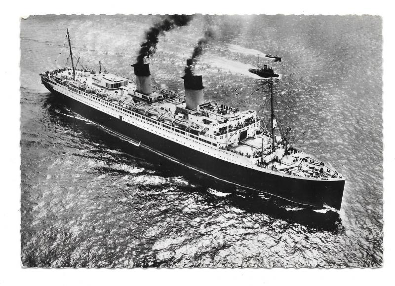 SS Ile de France French Transatlantic Ocean LIner Glossy Photo Postcard 4X6