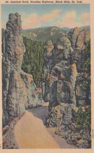 South Dakota Black Hills Sentinel Rock Needles Highway 1947 Curteich