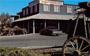 Red Bluff California~Metherds Saddlery~Boots~Tack 1960s Sedan Postcard