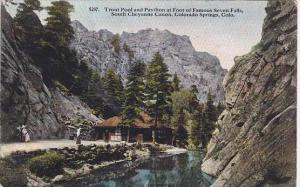 Colorado Colorado Springs Trout Pool And Pavilion At Foot Famous Seven Falls ...