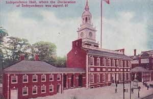 Pennsylvania Philadelphia Independence Hall Where The Declaration Of Independ...
