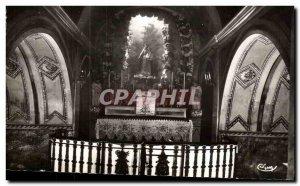 Old Postcard Notre Dame de Lumieres Center Pilgrimage Interior Crypt