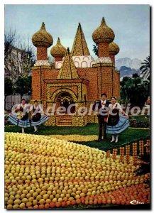 Postcard Moderne Menton lemon festivals