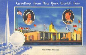 1939 New York World's Fair The British Pavilion Linen Postcard