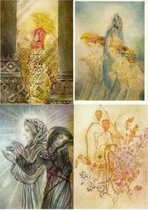 Sulamith Wulfing Angel Fairy Flower Spirit Visionary Art Set of 18 Postcards