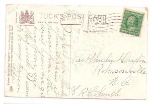 Vintage Easter Postcard Raphael Tuck 1910 Embossed Cross Narcissus Violets Poem