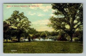 St Louis MO-Missouri, Scene In Calvary Cemetery, Vintage Postcard