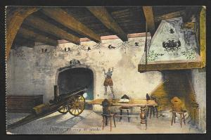 Cannon in Room Castle Chillon CHILLON Castle SWITZERLAND Unused c1910s
