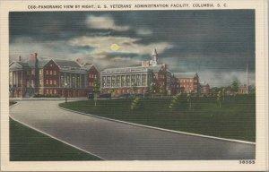 Panoramic View US Veteran's Admin Facility Columbia SC Vintage Postcard