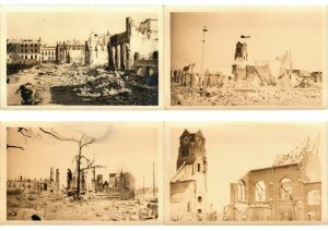 ROTTERDAM NETHERLANDS MILITARY WWII BOMBARDEMENT REAL PHOTO 15 CPA (L2653)