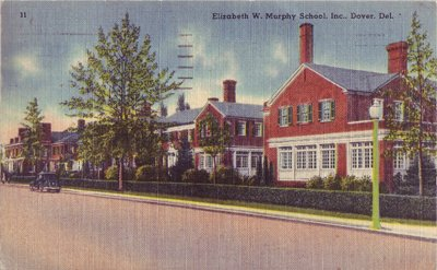 DOVER - ELIZABETH W. MURPHY SCHOOL...Exterior view of the building 1940s era