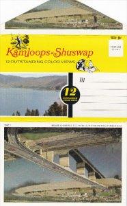Folder Postcard Kamloops-Shuswap , B.C. , Canada , 50-60s