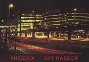 PHOENIX, Arizona; Sky Harbor International Airport at night, Barry M. Goldwat...