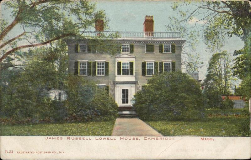 James Russell Lowell House Cambridge Massachusetts