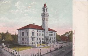 Massachusetts Worcester City Hall 1908
