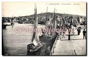 Postcard Old Port Honfleur Avant