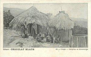 Congo Indigenes de Missadange editeurs Chocolat Klaus advertising postcard
