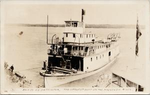 'SS Distributor' Largest Boat on Mackenzie River A&A Co. c1927 RPPC Postcard E54