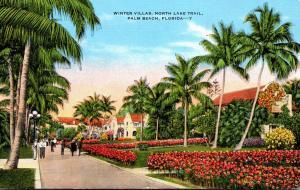 Florida Palm Beach Winter VIllas Along North Lake Trail 1948