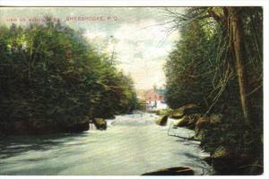 SHERBROOKE, Quebec, Canada, 1900-1910's; View On Magog River