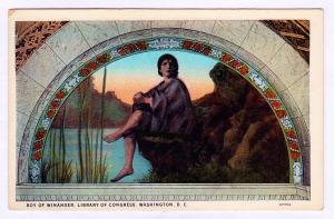 RARE 1915-30 Boy of Winander Wordsworth Library of Congress Washington D.C. Art
