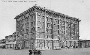 Union Building San Diego California 1910s postcard