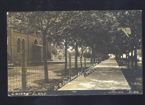 RPPC O'NEILL NEBRASKA LOVERS LANE VINTAGE REAL PHOTO POSTCARD LINCOLN NEBR.