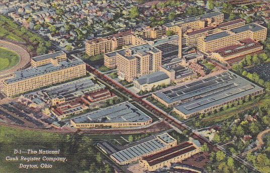 Ohio Dayton Aerial View The National Cash Register Company  Curteich