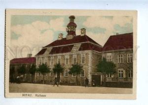 203287 WWI LATVIA MITAU Jelgava Town Hall german military RPPC