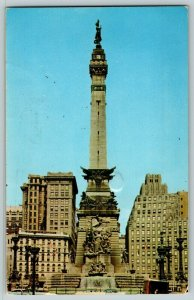 Postcard Soldiers' and Sailor's Monument Indianapolis IN