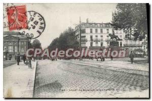 Postcard Old Lille Boulevard De La Libert