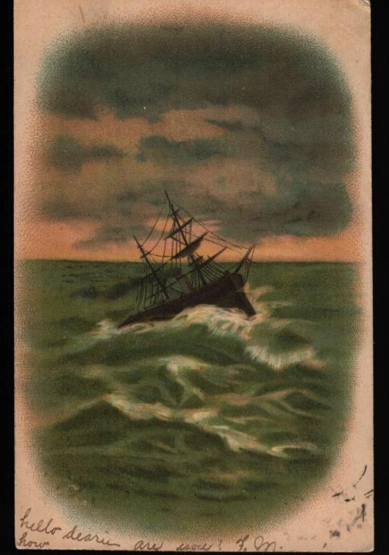 Dwaarkill Walden NY Sailing Ship Chester G. Quick Undivided Vintage Postcard B06
