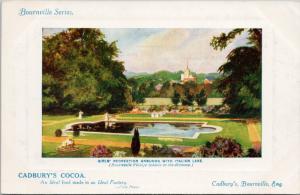 Cadbury's Cocoa Bournville England Girls Recreation Grounds Advert Postcard E36