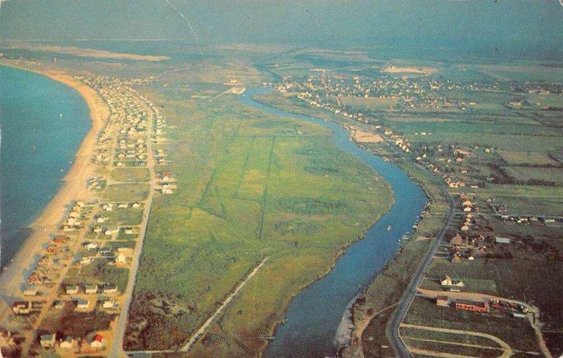 Lewes Delaware Aerial View Vintage Postcard AA37756