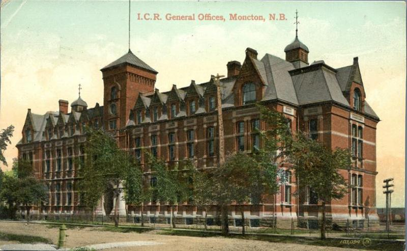 ICR General Offices - Moncton NB, New Brunswick, Canada - pm 1909 - DB
