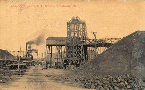 CHISHOLM MINNESOTA~CHISHOLM AND CLARK MINES~1915 POSTCARD