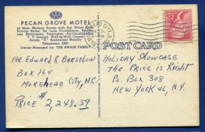 The Price is Right holiday Showcase December 1957 entry North Carolina postcard