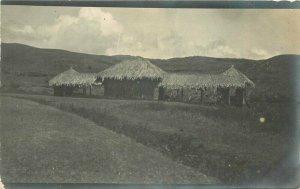 C-1910 Hawaii Native Art Complex RPPC Photo Postcard 20-852