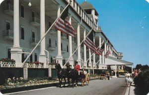 10718 Red Coach at Grand Hotel, Mackinac Island, Michigan 1958