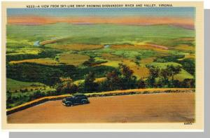 Shenandoah Valley, Virginia/VA Postcard,Sky Drive,Near Mint!