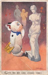 Humanized Dog Aphrodite of Milos Give Me My Girl Every Time! G. E. Studdy 1940