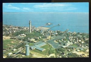 Provincetown, Mass/MA Postcard,Aerial Town & Harbor,Cape Cod