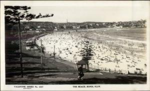 Sydney Bondi NSW Australia The Beach Real Photo Postcard #1