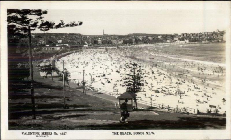 Sydney Bondi NSW Australia The Beach Real Photo Postcard #1