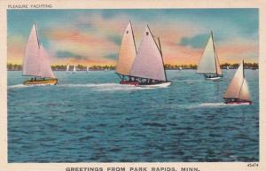 Minnesota Greetings From Park Rapids Pleasure Yachting