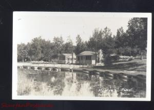 RPPC PRUDENVILLE MICHIGAN MCKEE'S PORT HOUGHTON LAKE REAL PHOTO POSTCARD