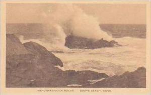 Connecticut Grove Beach Menunketesucks Rocks Albertype