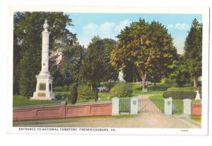 Fredericksburg VA Entrance National Cemetery Virginia