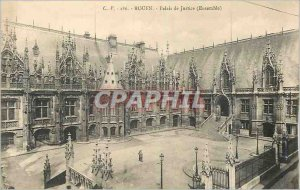 Old Postcard Rouen courthouse (together)